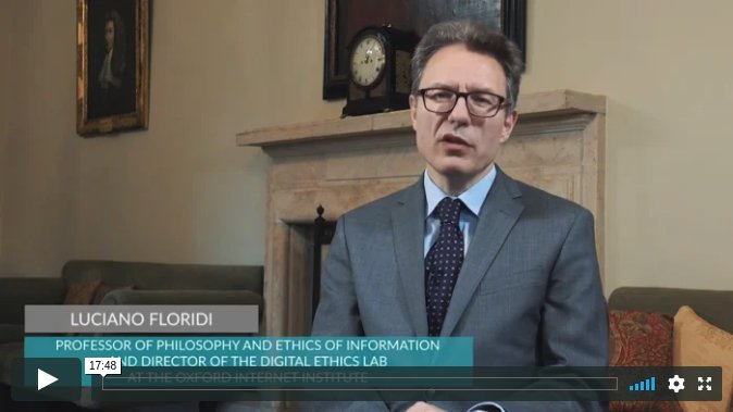 Social and New Media with Luciano Floridi: The Infosphere